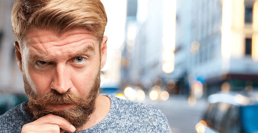 barbat cu par si barba